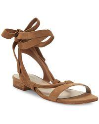 424 Fifth - Yasmin Suede Sandals - Lyst
