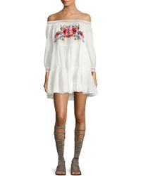 Free People - Off-the-shoulder Cotton Dress - Lyst