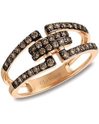 Le Vian - Chocolatier Chocolate Diamonds And 14k Strawberry Gold Ring - Lyst