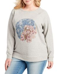 Jessica Simpson - Plus Graphic Sweatshirt - Lyst