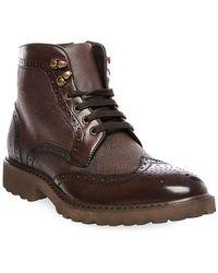 Steve Madden - Morreau Wingtip Leather Boots - Lyst