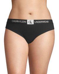 Calvin Klein - Logo Waistband Bikini Panty - Lyst