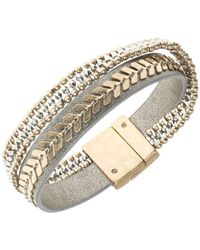 Lonna & Lilly - Faux Leather Bangle Bracelet - Lyst