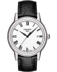 Tissot - Men's Carson Watch With Leather Strap - Lyst
