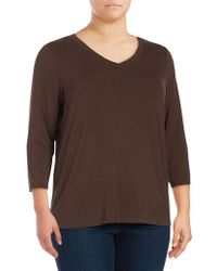 Lord & Taylor   Plus Imperial Women Top   Lyst