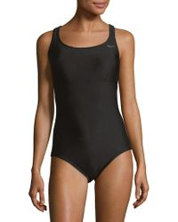 Nike - One-piece Epic Racerback Spliced Swimsuit - Lyst
