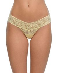 Hanky Panky - Low-rise Lace Thong - Lyst