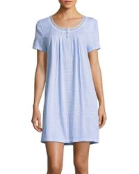 Carole Hochman - Printed Cotton Nightgown - Lyst