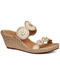Jack Rogers - Shelby Leather Wedge Sandals - Lyst