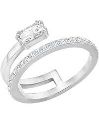 Swarovski - Gray Crystal Ring - Lyst