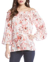 Karen Kane - Floral Off The Shoulder Convertible Top - Lyst