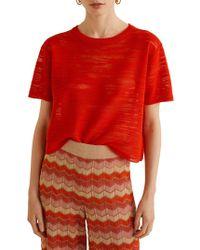 Mango - Flam Short-sleeve Jersey Top - Lyst