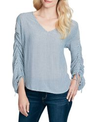 Jessica Simpson - Miller V-neck Gathered-sleeve Top - Lyst