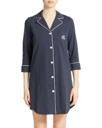 Lauren by Ralph Lauren - Plus Striped Sleepshirt - Lyst