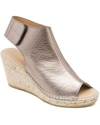 Andre Assous - Flora Leather And Jute Wedge Espadrilles - Lyst