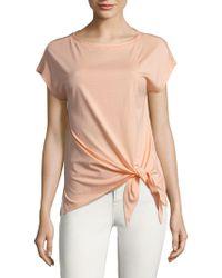 Jones New York - Short Sleeve Front-tie Shirt - Lyst
