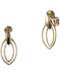 Anne Klein Goldtone Doorknocker Clip-on Earrings