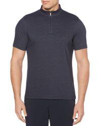 Perry Ellis - Quarter Zip Long Sleeve Pullover - Lyst