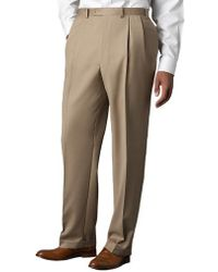Lauren by Ralph Lauren - Wool-cashmere-blend Cuffed Pants - Lyst