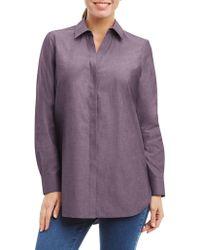 Foxcroft - Striped Cotton Tunic - Lyst