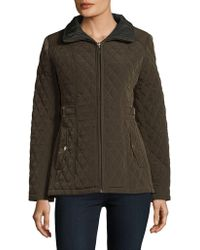 Gallery - Petite Quilted Zip-front Jacket - Lyst