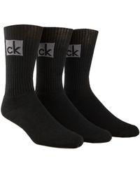 Calvin Klein - Knitted Cotton-blend Socks - 3 Pack - Lyst