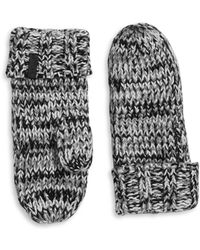 Rella | Wool-blend Knit Insulated Mittens | Lyst
