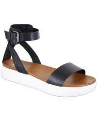 485f3cf0786 Lyst - Mia Ellen Ankle-strap Faux Leather Sandals in Metallic