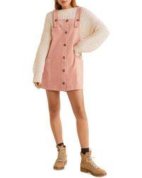 Mango - Corduroy Pinafore Dress - Lyst