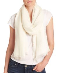 d9be4b458 Lord   Taylor - Oversize Wool And Cashmere Wrap Scarf - Lyst