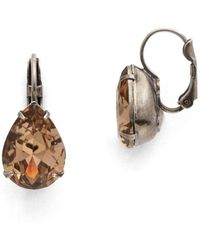 Sorrelli - Mirage Timeless Teardrop Crystal Drop Earrings - Lyst