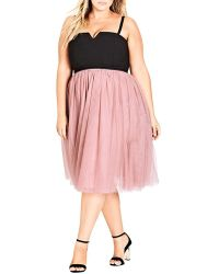 City Chic - Plus Tulle Dress - Lyst