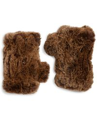 Surell - Rabbit Fur Texting Glove - Lyst