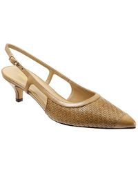 Trotters - Kimberly Slingback Leather Court Shoes - Lyst