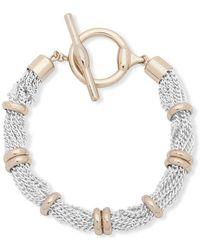 Lauren by Ralph Lauren Crystal Two-tone Bracelet - Metallic
