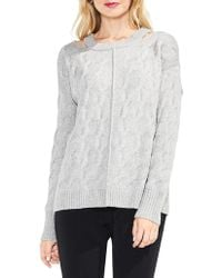 Vince Camuto - Cutout Cable Jumper - Lyst