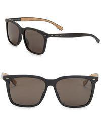 HUGO - 56mm Round Sunglasses - Lyst