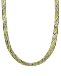 Lord & Taylor - Tri-tone Circle Sterling Silver Necklace - Lyst
