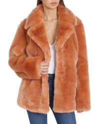 Avec Les Filles - Faux Fur Swing Coat - Lyst