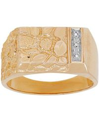 Lord & Taylor - 14k Yellow Gold And Rhodium Diamond Ring - Lyst