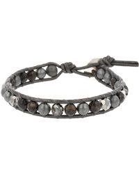 Chan Luu - Crystal & Sterling Silver Leather Wrap Bracelet - Lyst