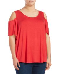Lord & Taylor - Crisscross Cold-shoulder Top - Lyst