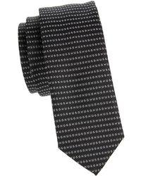 HUGO - Slim Silk Logo Tie - Lyst
