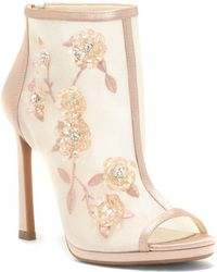 Jessica Simpson - Pedell Embellished Mesh Booties - Lyst