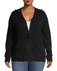 Lord & Taylor - Plus Plus Long-sleeve Cashmere Hoodie - Lyst