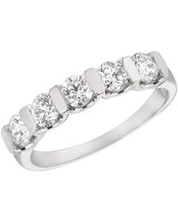 Morris & David - Diamond And 14k White Gold Ring - Lyst