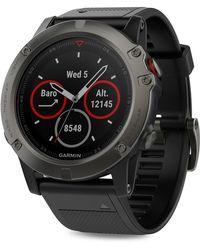 Garmin - Fenix Stainless Steel Silicone-strap Smart Watch - Lyst