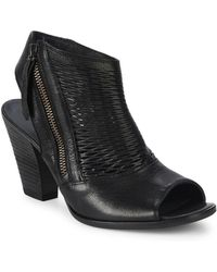 Paul Green - Willow Leather Peep-toe Booties - Lyst