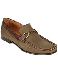 Donald J Pliner - Darrin Canvas Horsebit Loafers - Lyst