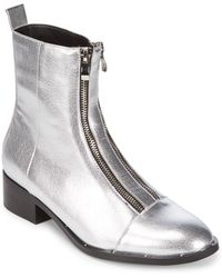 Lord & Taylor | Duplex Faux Leather Zipper Boots | Lyst